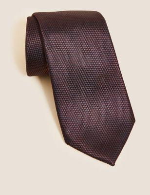 Textured Pure Silk Tie