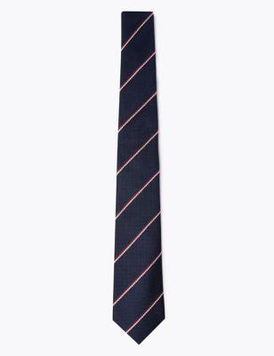 Slim Striped Pure Silk Tie