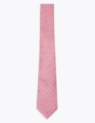 Slim Polka Dot Pure Silk Tie & Handkerchief Set