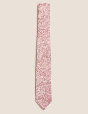 Slim Paisley Pure Silk Tie