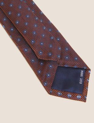 Slim Patterned Pure Silk Tie
