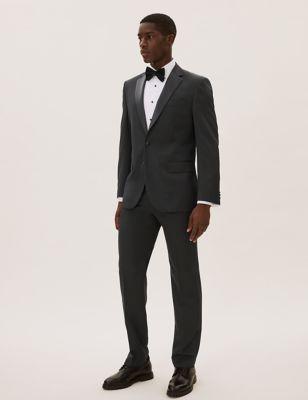 Big & Tall Black Regular Fit Dinner Jacket