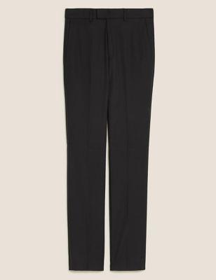 Black Slim Fit Textured Trousers