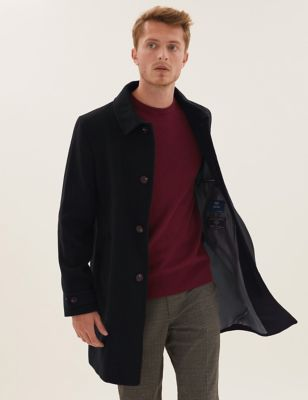 Italian Wool Overcoat with Cashmere