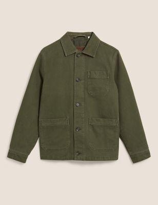 Cotton Twill Utility Jacket