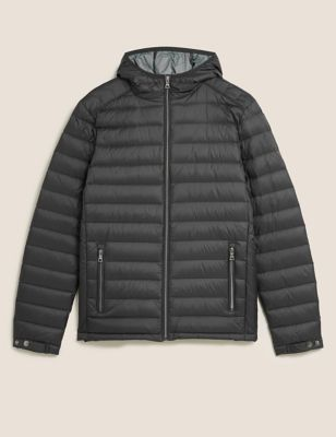 Feather and Down Hooded Jacket