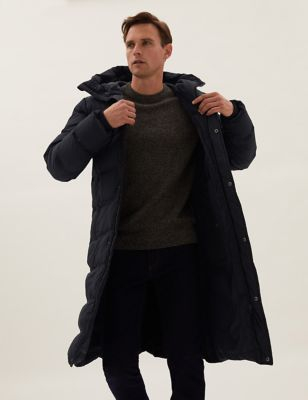 Feather and Down Padded Parka Jacket
