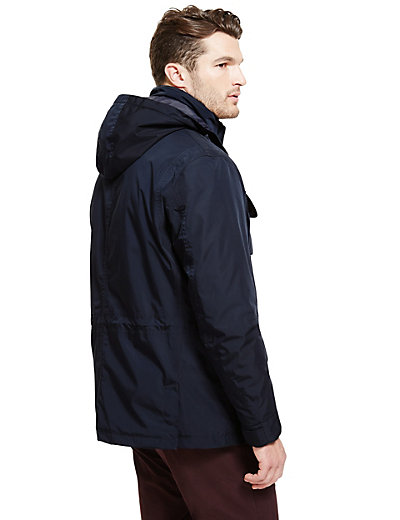 Fully Waterproof Jacket with Detachable Hood | M&S