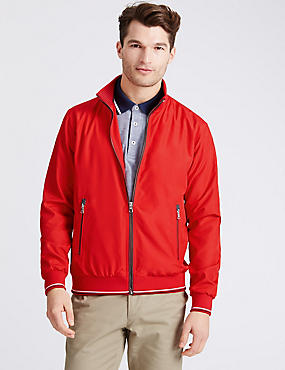 Bomber Jacket with Stormwear™, RED, catlanding