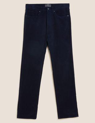 Regular Fit Italian Moleskin Trousers