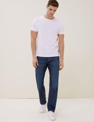 Straight Fit Organic Cotton Italian Jeans