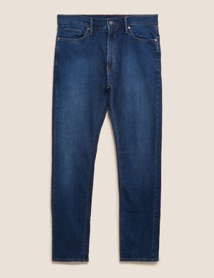 Tapered Fit Stretch Jeans