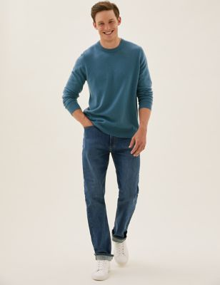 Organic Cotton Loose Fit  Stretch Jeans