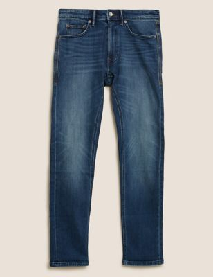Slim Fit Vintage Wash Stretch Jeans