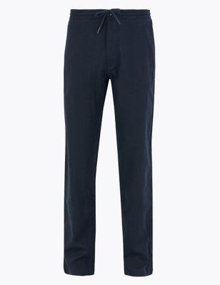 Big & Tall Regular Fit Linen Trousers