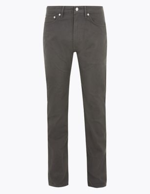 Straight Fit 5 Pocket Stretch Trousers