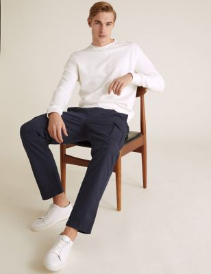 Straight Fit Organic Cotton Cargo Trousers