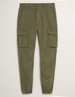 Slim Fit Cuffed Cargo Trousers