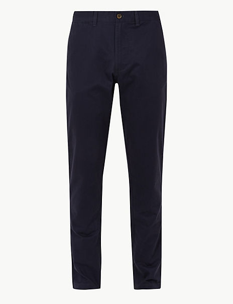 Tapered Fit Pure Cotton Chinos with Stormwear™