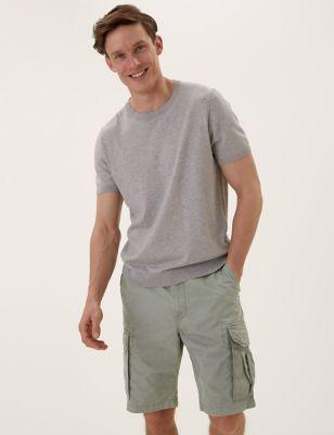 Pure Cotton Cargo Shorts