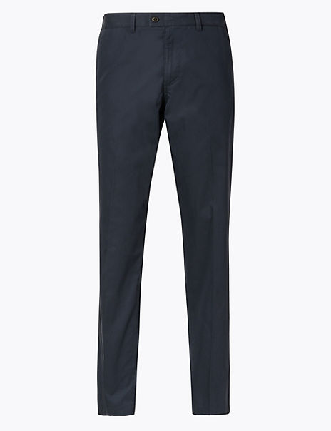 Shorter Length Cotton Rich Chinos with Stretch