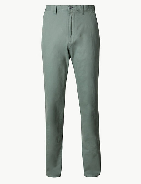 Regular Fit Cotton Rich Chinos with Stretch