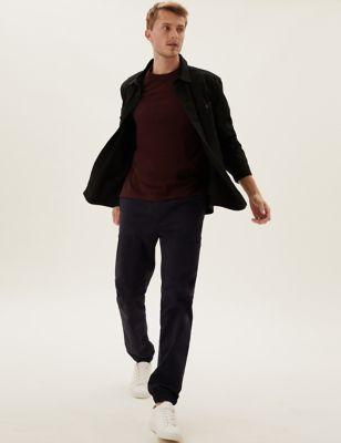 Organic Cotton Cuffed Stretch Trousers