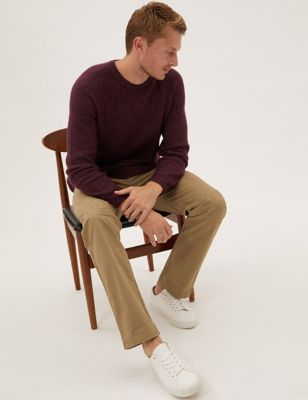 Straight Fit Elasticated Trousers