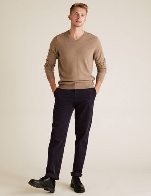 Regular Fit Corduroy Stretch Trousers