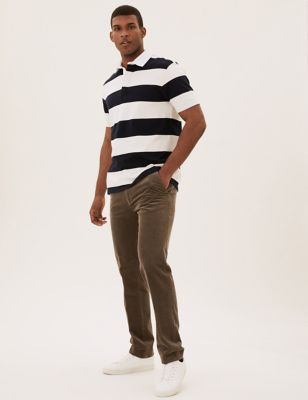 Regular Fit Luxury Corduroy Stretch Trousers