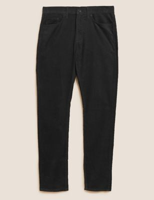 Straight Fit Corduroy 5 Pocket Trousers