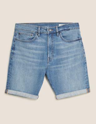 Organic Cotton Stretch Denim Shorts