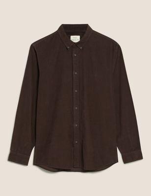 Pure Cotton Garment Dye Corduroy Shirt
