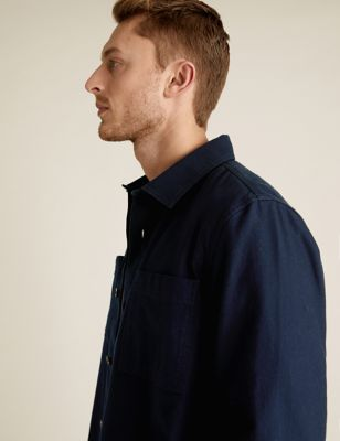 Pure Cotton Twill Utility Overshirt
