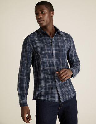 Pure Cotton Double Face Check Shirt