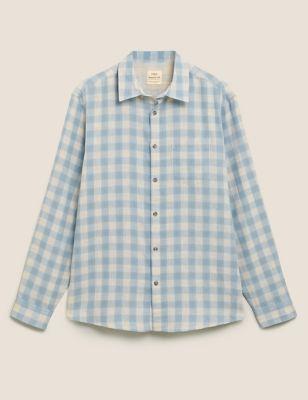 Pure Cotton Double Faced Check Shirt