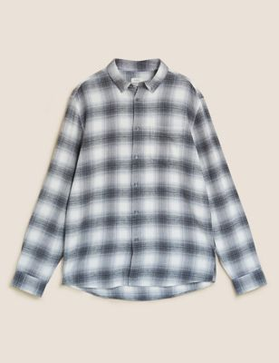 Pure Cotton Flannel Checked Shirt
