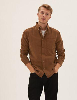 Pure Cotton Garment Dyed Corduroy Shirt
