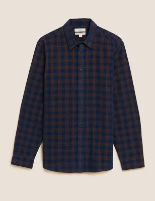 Pure Cotton Corduroy Check Shirt