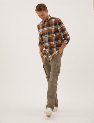Pure Cotton Flannel Check Shirt