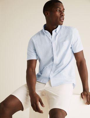 Pure Cotton Striped Shirt