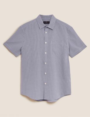 Easy Iron Gingham Checked Shirt