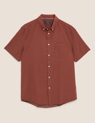 Easy Iron Pure Cotton Pindot Shirt