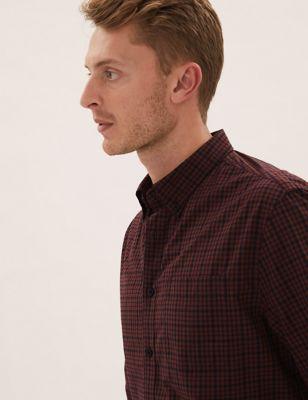 Pure Cotton Check Shirt