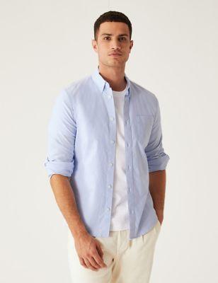Slim Fit Pure Cotton Oxford Shirt