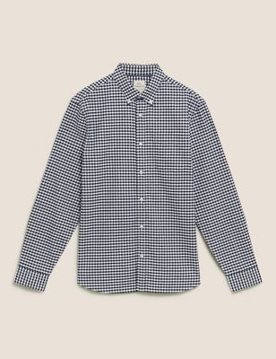 Pure Cotton Gingham Check Oxford Shirt