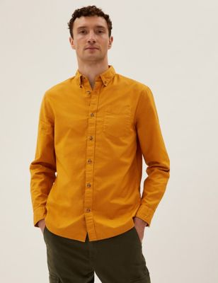 Pure Cotton Garment Dyed Oxford Shirt