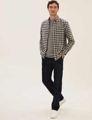 Pure Cotton Check Oxford Shirt