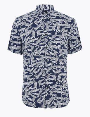 Crocodile Print Shirt
