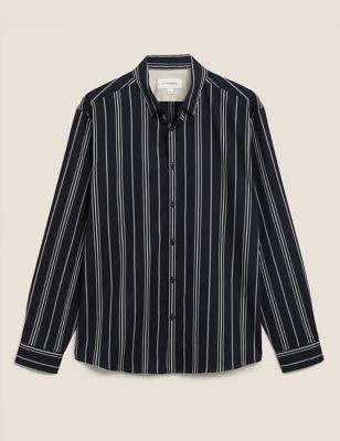 Pure Cotton Twill Striped Shirt